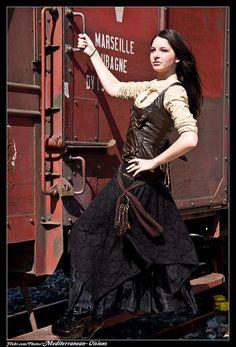 all aboard the steam train