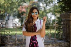 |Jumpsuit| Faballey| White| shirt dress| Shoes|Asos| Bag| Rebecca Minkoff| Sunglasses| Blue| Reflectors| Ootd| Daily Feature| Fashion| Blogger| Floral|