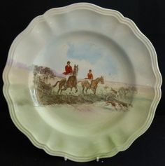 Dinner Plate In The Herring Hunt The Hunt Pattern By Spode