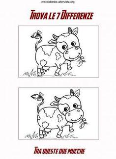 Trova le differenze tra queste mucche — Mondo Bimbo