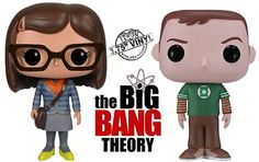 The Big Bang Theory: Sheldon Cooper e Amy Farrah Fowler – Bonecos de Vinil Funko Pop!