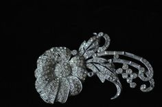 Vintage Brooch Clear Rhinestones Silve Tone Mount by PageScrappers, $14.99