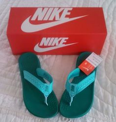 Nike Women's Flip Flops Flex Motion Thong Size 8 Teal #Nike #FlipFlops #Casual