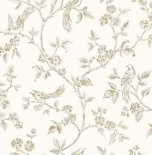 Wow! Shabby Chic Birds Cream Gold Floral Feature Wallpaper