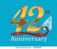 42nd golden anniversary logo with white indonesia shadow puppet ornament