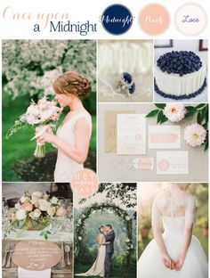 Once Upon a Midnight - Rustic and Romantic Blue and Peach Wedding Inspiration