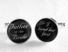 Such a nice thought  Father of the Bride  I Loved Her First  by MickyChaseJewelry, $40.00
