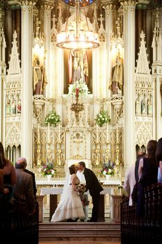my parents would die of happiness if i got married in a church