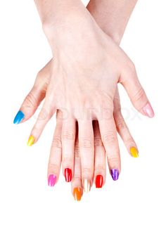 Hand Images Polished Nails Stock Image Of Women S Hands With A Colored Nail Polish