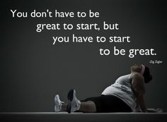 You don't have to be great to start quote - Workout Quotes #motivation #quotes #gym