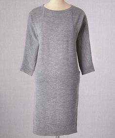 Take a look at this Gray Merino Wool Drop-Waist Dress on zulily today!