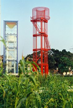 """Zhongshan-shipyard-park-turenscape-25-reused-water-towers « Landscape Architecture Works   LandezineThis park was built upon an old shipyard and brown field. The design explains itself as to how landscape architects can turn a wrecked site into a beautiful, meaningful and functional place, as well as to the important role landscape architects can play in urban renovation. The following aspects of this project make it unique: 1. Its unique history: """" A small site with big stories"""""""