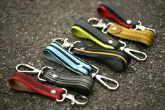 Key chains or attachable handles.