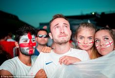 Supporters in Peterborough look tearful as England lose to Croatia in the World Cup semi-f. Moscow Red Square, England Fans, Peterborough, Big Game, World Cup, Croatia, Football, Country, Celebrities