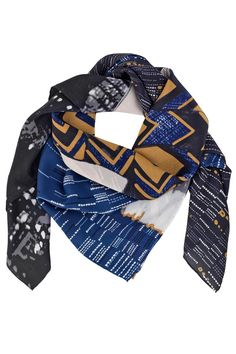 The print on this Fennel scarf from Becksöndergaard is inspired by New York in the 1970's.  This handprinted scarf boasts a soft silk fabric making it your stylish year-round companion. Wear it indoor as a shawl. Wear it outdoor as a stunning accessory that will elevate any outfit. Wear it as a beach wrap on holidays. Tuck it in your purse on warmer days as a life-saver for A/C environments or patio evenings Well you get the picture!  Size: 110 x 110 cm Fennel Silk Scarf by Becksondergaard…