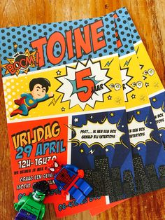 Superhero party invitation