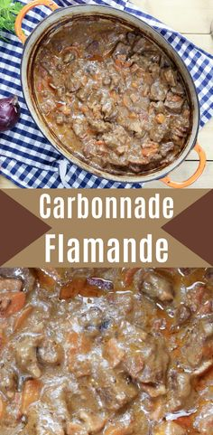 Carbonnade Flamande is a delicious, rich, Belgian casserole flavoured with beer, bacon, onions and tasty herbs. High Protein Recipes, Protein Foods, Healthy Recipes, Beef Casserole, Casserole Recipes, Beef Stews, Vegetable Puree, Flexible Dieting, Onions