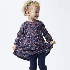 Bebe Long Sleeve Liberty Dress In Manuela Tutus For Girls, Liberty Print, Dress For You, Red And Blue, Dress Skirt, Tunic Tops, Long Sleeve, Skirts, Cotton