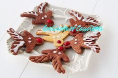 Rudolph The Red Nose Biscuits - Grelinette et Cassolettes Rudolph The Red, Red Nose, Gingerbread Cookies, Biscuits, Christmas, Party Desserts, Chocolates, Noel, Gingerbread Cupcakes