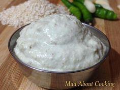 Sesame Garlic Chutney- Calcium Rich Dip