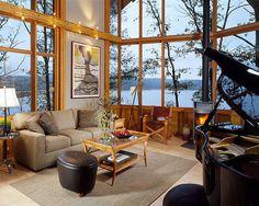 Great Room: Architect-designed Lindal home in Innsbrook, MO by Lindal Cedar Homes, via Flickr