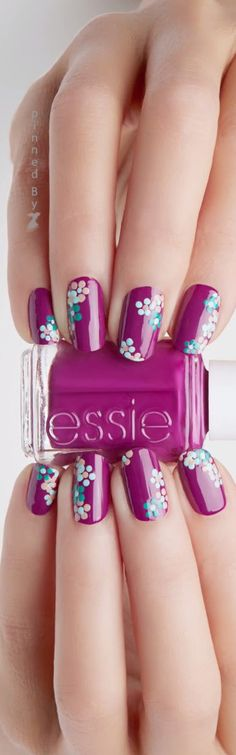 I ❤ COLOR MORADO ❤ PÚRPURA ❤ Nail Art♡♡♡♡♡