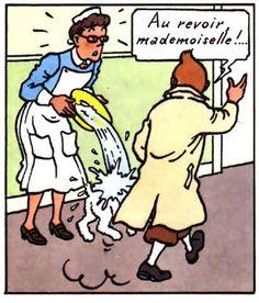 Tintin drague.