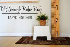 DIY Growth Ruler Red