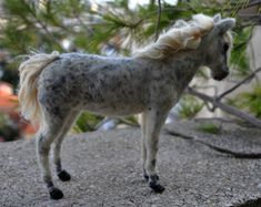 Needle felted Horse. Soft sculpture .Made to custom order