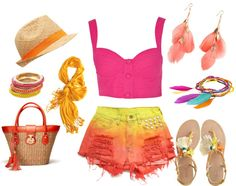I can't get enough of summer ♥, created by haazeelnut on Polyvore