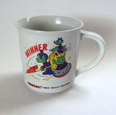 Astrosniks Mug Winner Sniks Galaxo Astralia Green Alien Coffee Cup Star Power Vintage 1983