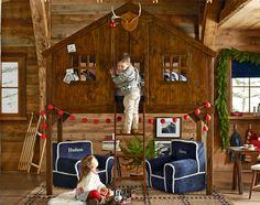 Tree House Bed with Christmas decorations :)