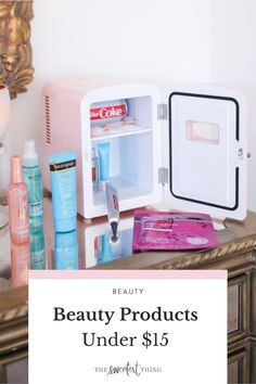 Here are some of my favorite skincare products that are good & affordable. In case you're looking for a new product to add to your skincare routine on a budget. From Hyaluronic Acid Serum to Vitamin C, and even a self-tanner. Everything you need for smooth (and summer-ready!) skin. + my pink mini-fridge, to keep them all cool | The Sweetest Thing Blog by Emily Ann Gemma Beauty Tips For Skin, Best Beauty Tips, Best Skincare Products, Beauty Products, Pink Mini Fridge, The Sweetest Thing Blog, Emily Ann, Makeup Must Haves, Beauty Tutorials