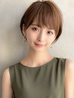 Kawaii Hairstyles, Short Hairstyles For Women, Short Hair Cuts For Women, Pretty Hairstyles, Japan Hairstyle, Curly Hair Styles, Natural Hair Styles, Japan Girl, Cute Beauty
