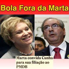 Bola Fora da Marta ➤ http://politica.estadao.com.br/noticias/geral,marta-convida-cunha-para-sua-filiacao-ao-pmdb,1755295 ②⓪①⑤ ⓪⑨ ⓪③ #OPA