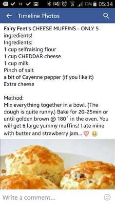 Cheese muffins Savory Muffins, Savory Snacks, Cheese Muffins, Kos, Savoury Baking, Biscuit Recipe, Pain, Food Dishes, Baking Recipes