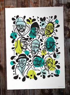 Ruben Sanchez | Artworks | Zoonchez, Wu-Tang Clan. Digital illustration. 42x30cm