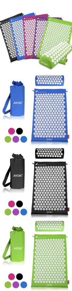 Acupuncture: Avoin Fitness Acupressure Mat And Pillow Set - Comes With A Bonus Carry Bag -> BUY IT NOW ONLY: $36.99 on eBay!