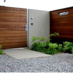modern front gate ideas - Google Search