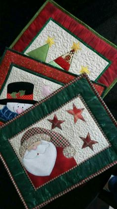 57 Trendy Sewing Christmas Placemats Mug Rugs - Patchwork Christmas Mug Rugs, Christmas Patchwork, Christmas Placemats, Christmas Applique, Primitive Christmas, Christmas Table Mats, Modern Christmas, Scandinavian Christmas, Christmas Christmas