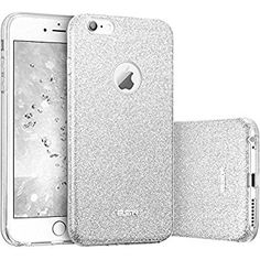 Coque iPhone 6s Argent, ESR iPhone 6 / 6 s Coque Silicone Paillette Strass Brillante Bling Bling Glitter de Luxe, Bumper Housse Etui de Protection [Ultra Fin] [Anti Choc] pour Apple iPhone 6 / 6S 4,7 pouces (Série Glamour, Argent Pailleté)