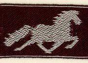 Tablet Weaving by Lise Ræder Knudsen - Icelandic horses Inkle Weaving, Inkle Loom, Card Weaving, Tablet Weaving Patterns, Horse Pattern, Weaving Projects, Loom Bands, Woven Bracelets, Home Art