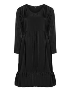 Fitted dress with fancy hem in Black designed by Hebbeding to find in Category Dresses at navabi.de