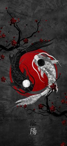 Japanese Wallpaper Iphone, Asian Wallpaper, Abstract Iphone Wallpaper, Galaxy Wallpaper, Cartoon Wallpaper, Ying Yang Wallpaper, Dark Iphone Backgrounds, Dragon Wallpaper Iphone, Minimal Wallpaper