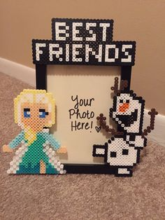 Elsa and Olaf Best Friend- Picture Frame by DanielleysBowtique on Etsy https://www.etsy.com/listing/261090711/elsa-and-olaf-best-friend-picture-frame