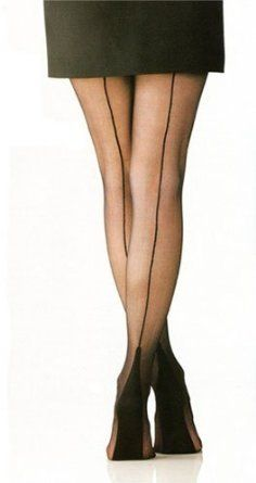 Seamed Nylons ~ This is what we wore before pantyhose were invented.  Wore these! :)