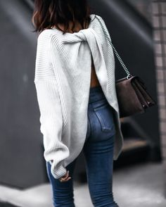 The back of this sweater is so cute! @liketoknow.it http://liketk.it/2pQBb #liketkit