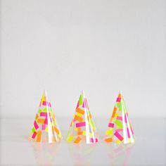 """Make these party hats with real confetti! On the blog today! www.ohhappyday.com"""