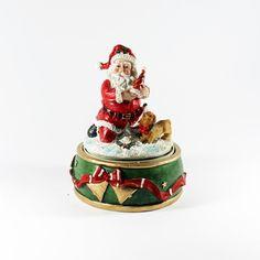 Natal / Caixas de musica - Pai Natal com Cão - Bau da Cravus