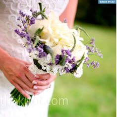 Purple and White!! Love the simplicity!